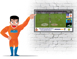 Sponsorman Splitscreen advertising 260x200